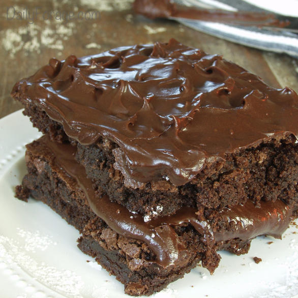 Gluten-free, Dairy-free Supremely Frosted Chocolate Brownies by DailyForage.com