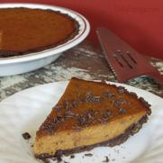 Gluten Free Dairy Free Chocolate Ganache Pumpkin Pie