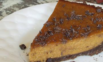 Gluten Free Dairy Free Chocolate Ganache Pumpkin Pie with Ginger Graham Crust, DailyForage.com