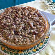 Streusel Topped Maple Yams