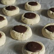 Gluten-free Dairy-free Chocolate Thumbprint Shortbread Cookies