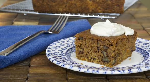 Gluten-free Dairy-free Carrot Cake with Apricots and Orange Zest