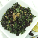Gluten-free Dairy-free Black Rice Lemon Kale Salad