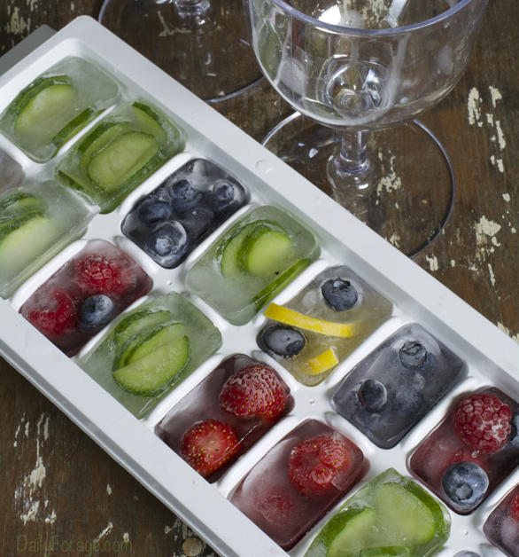 Fruit & Veggie Ice Cubes