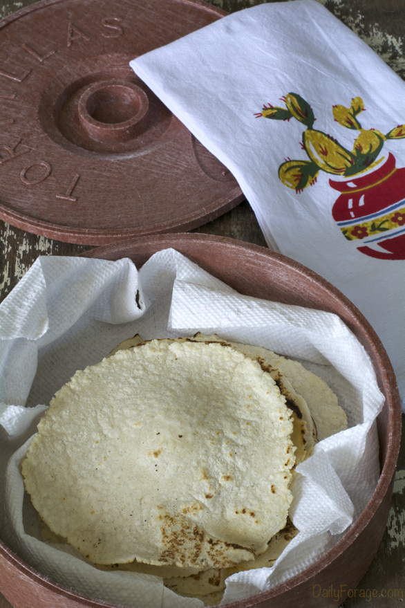 Homemade Gluten-free Dairy-free Corn Tortillas