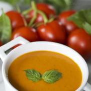 Gluten-free Dairy-free Creamy Homemade Tomato Soup by DailyForage.com