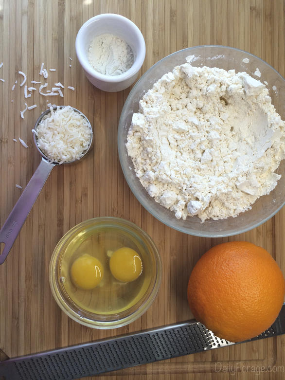 Gluten-free Dairy-free Orange Coconut Biscotti Ingredients