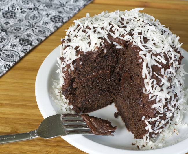 double chocolate cake with supreme chocolate frosting daily forage