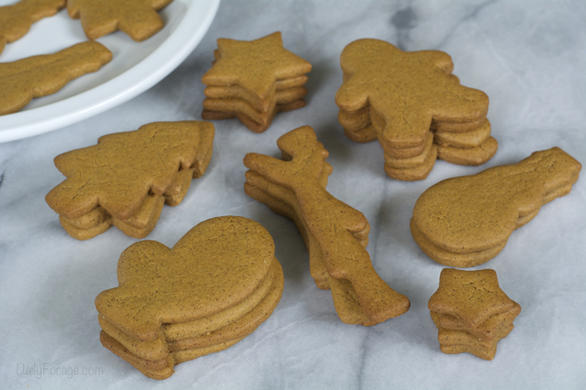 Gingerbread Cutout Cookies, gluten, dairy, egg, and soy-free