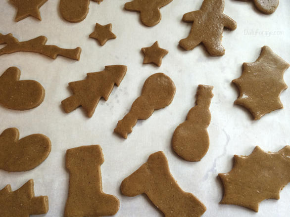 Gingerbread Cutout Cookies, free of gluten, dairy, eggs, soy, peanuts, tree nuts