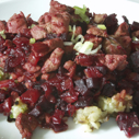 Gluten-free, Dairy-free Pork, Beet, and Fennel Hash