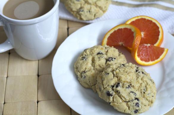 Gluten-free, Dairy-free Chocolate Chip Orange Biscuit Scones