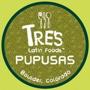 Tres Latin Foods Pupusas Logo, courtesy of TP