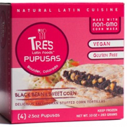 Tres Pupusas Black Bean Vegan Gluten Free, courtesy of TP