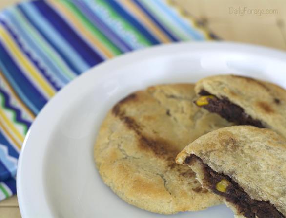 Tres Pupusas Gluten-Free Vegan Black Bean and Sweet Corn