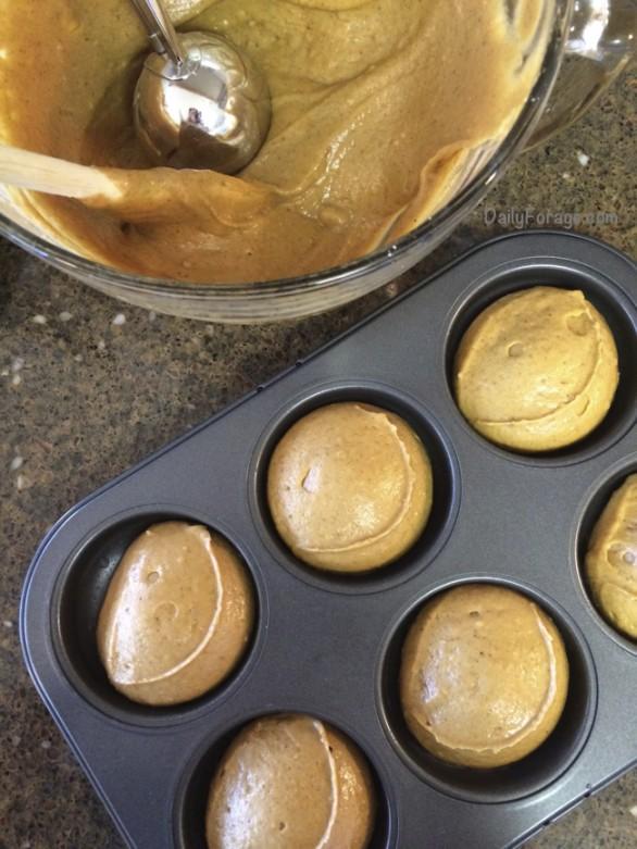 Gluten-free, Dairy-free Pumpkin Spice Donut Batter by DailyForage.com