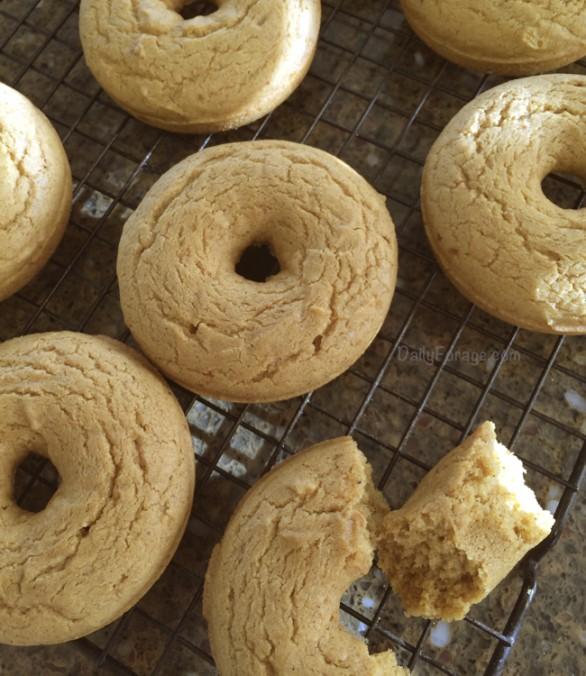 Baked Gluten-free, Dairy-free Pumpkin Spice Donuts by DailyForage.com