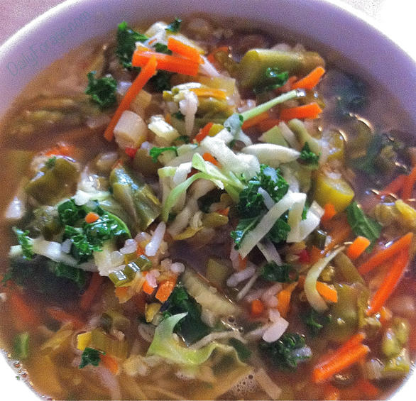 Gluten Free Asian Vegetable Soup by DailyForage.com