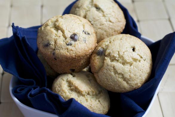 Chocolate Chip Banana Muffins with Psyllium Husk by DailyForage.com