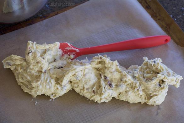 Ready to spread Gluten-free, Dairy-free Cranberry Walnut Biscotti dough by Daily Forage