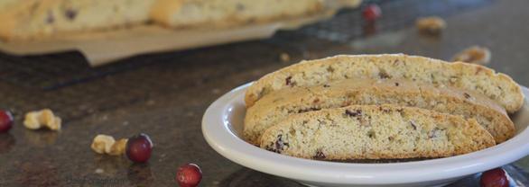 Gluten Dairy Free Cranberry Walnut Biscotti by Connie Veilleux / Daily Forage