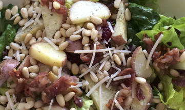 Gluten Dairy Free Prosciutto, Red Potato, Pine Nut Salad by DailyForage.com