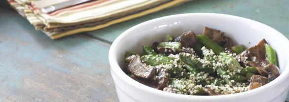 Gluten Dairy Free Vegan Asparagus Mushroom Lunch Bowl s2, DailyForage.com