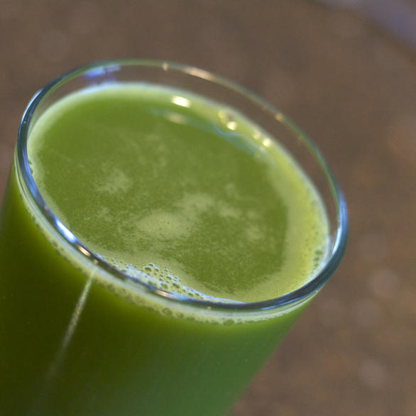 Strained 5-Ingredient Celery Cucmber Juice by DailyForage.com
