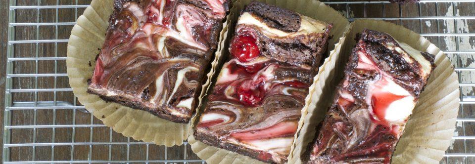 Double Chocolate Cherry Cream Cheese Brownies