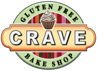 Crave GF Bake Shop Logo, photo courtesy of Crave