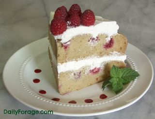 Yellow Cake Slice wRaspberries and Whipped Cream md pic