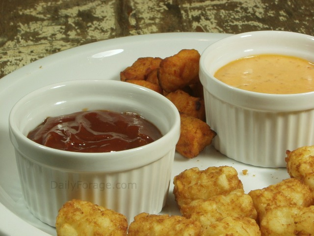 Tator Tots with Gluten free Sassy Sauces