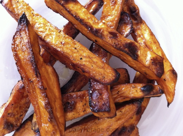 Sweet Potato Fries with Orange Balsamic Glaze Baked