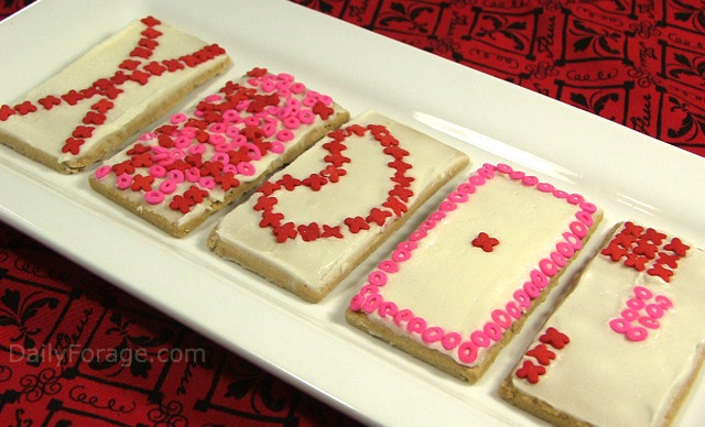 Valentine's Day Card Cookies