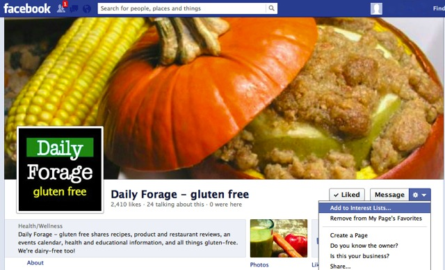 Facebook Cog Photo, DailyForage.com