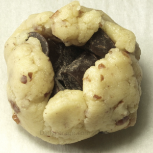 Chocolate Filled Pecan Sandies (Christmas Kiss Cookies) filled