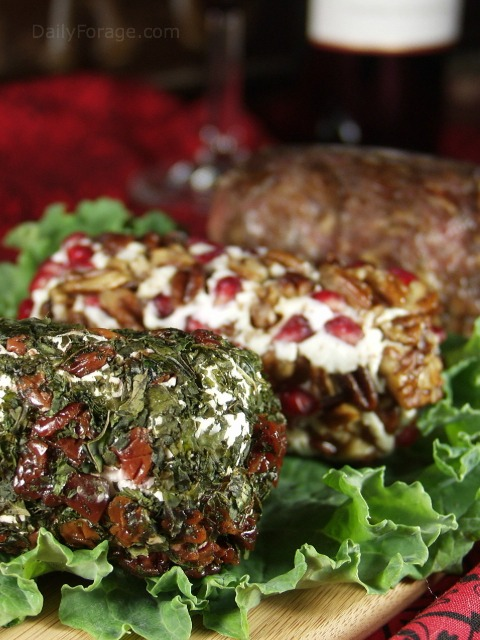 Embellished Goat Cheese Log Kale