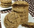 Chewy Chocolate Espresso Gingerbread Cookies GFDF stack md pic