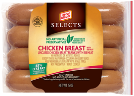 Oscar Mayer Selects Chicken Breast Gluten-free Hot dogs, image courtesy of OM