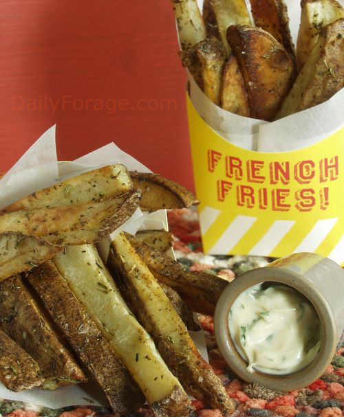 Herbed Roasted French Fries
