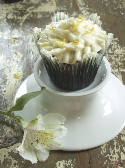 Chocolate Cupcakes with Lemon Zest Buttercream Frosting 6