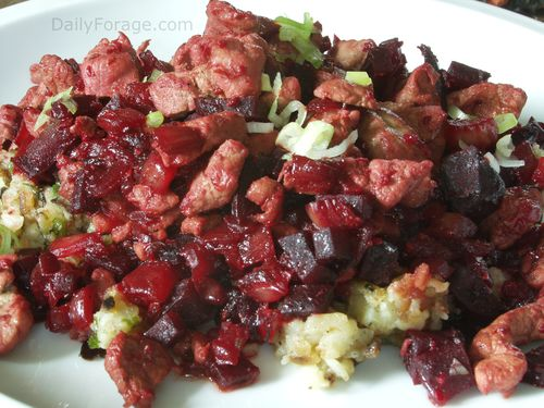 Pork, Beet and Fennel Hash