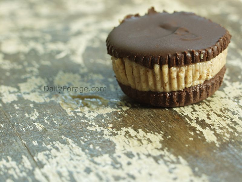 Dark Chocolate Almond Butter Cups - Layered Cups